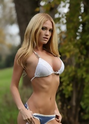 Shannyn Strips In The Woods - Picture 10